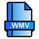 wmv, file, extension, format icon