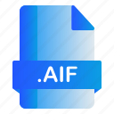 extension, file, aif, format icon