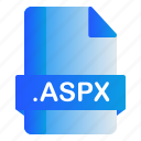 aspx, extension, file, format icon