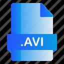 avi, extension, file, format icon