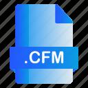 cfm, extension, file, format icon