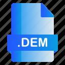 dem, extension, file, format