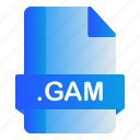 extension, file, format, gam icon