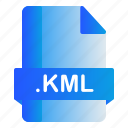 extension, file, format, kml icon
