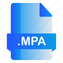 extension, file, format, mpa icon