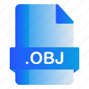 extension, file, format, obj icon