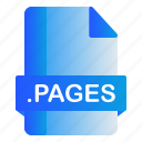 extension, file, format, pages icon