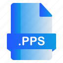 extension, file, format, pps icon