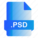 extension, file, format, psd icon