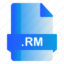 extension, file, format, rm icon