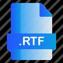 extension, file, format, rtf icon