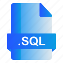 extension, file, format, sql icon