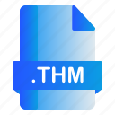 extension, file, format, thm icon