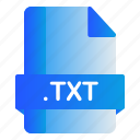extension, file, format, txt icon