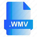 extension, file, wmv, format icon