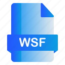 extension, file, format, wsf icon