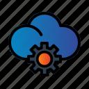 cloud, gear, seo, setting icon