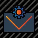 email, envelope, seo, setting icon