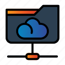 cloud, folder network, share document icon
