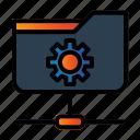 folder network, setting, share document icon