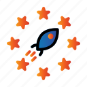 cloud, fast, rating, rocket icon