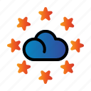 cloud, rating, seo, star icon