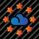 cloud, rating, seo, star