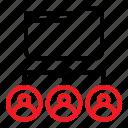 folder network, share document, share user icon