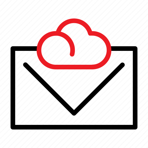 cloud, email, envelope, seo icon