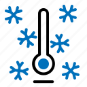 cool, temperature, thermometer, winter icon