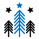 forest, nature, tree, winter icon