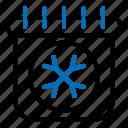 calendar, ice, season, winter icon