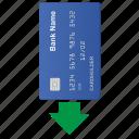 arrow, bottom, card, credit