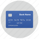 blue, card, chip, credit, inside, side, title icon