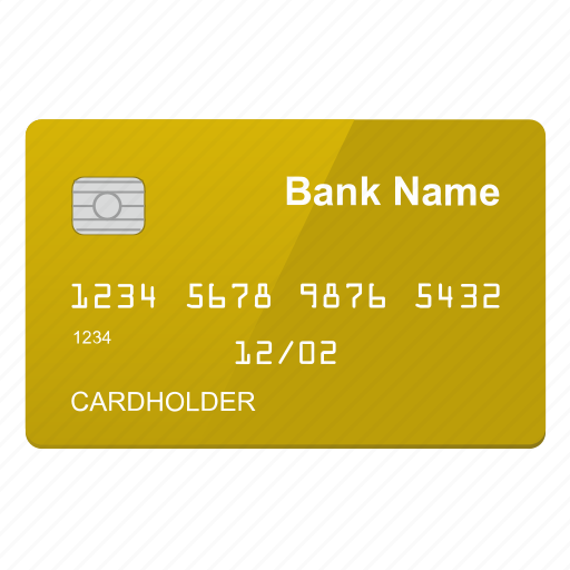 card, chip, credit, gold, inside icon