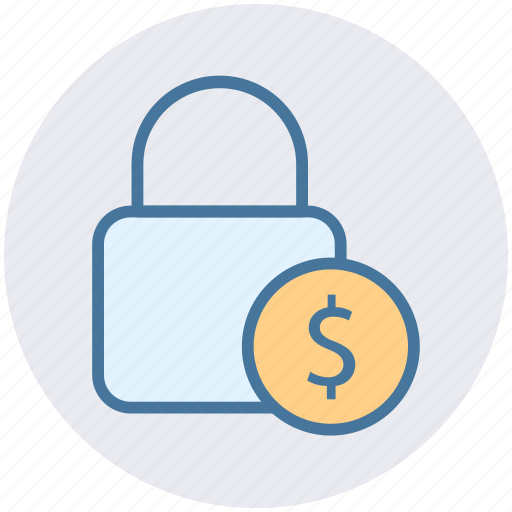 Dollar, financial security, lock, lock and security, security icon - Download on Iconfinder