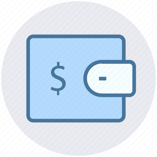 cash in wallet, dollar in wallet, money in wallet, pocket money, purse, wallet icon
