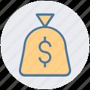 cash bag, money, price, sack of money, cash, payment