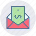 email, envelope, letter, letter envelope, message, post icon