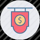 currency, dollar, board, dollar sign