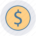 currency, dollar, dollar sign, dollar value, finance, money icon