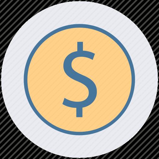 currency, dollar, dollar sign, dollar value, finance, money icon