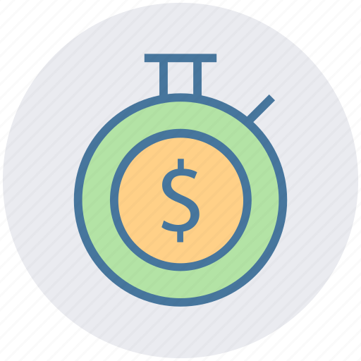 Clock, countdown, deadline, dollar, stopwatch, timer icon - Download on Iconfinder
