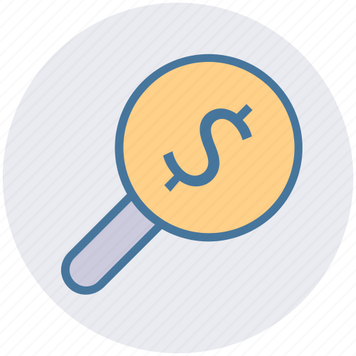account, dollar search, dollar sign, find, magnifying, search icon