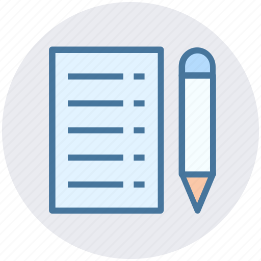 Document, lead pencil, note, pencil and paper, sheet, write icon - Download on Iconfinder