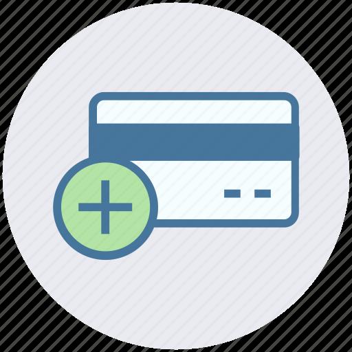 add card, add credit card, add debit card, add payment, card, credit icon
