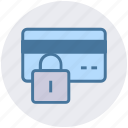credit card lock, lock, password, payment, secure payment, security icon