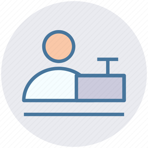 desk, man, office, user, working, workplace icon