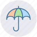 protection, rain umbrella, safe, security, umbrella icon