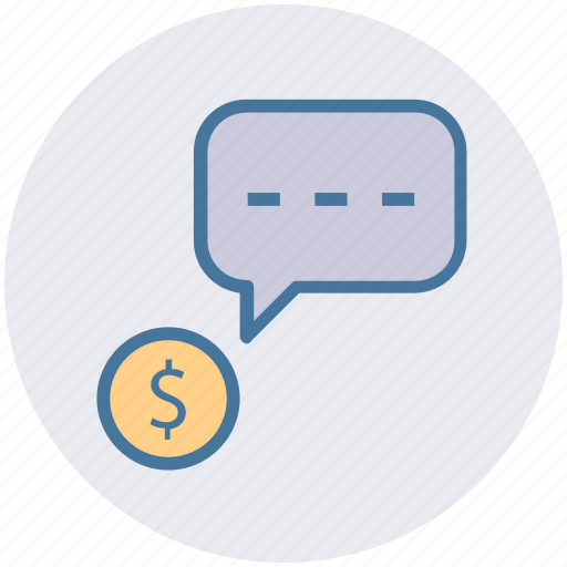 chat, conversion, dollar message, dollar sign, sms, text icon